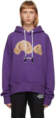 Palm Angels Purple Bear Hoodie