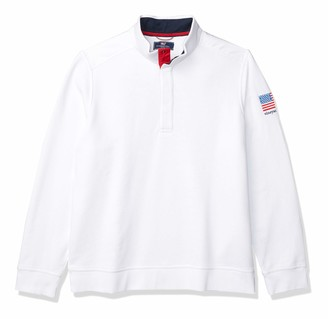 Vineyard Vines Men's USA Snap Mockneck Pullover