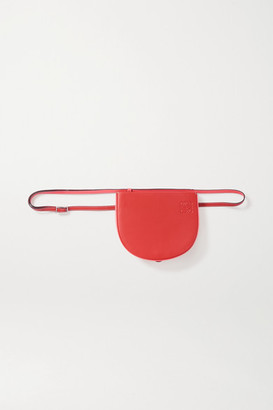 Loewe Heel Two-tone Leather Shoulder Bag - Red