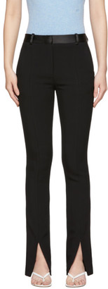 Victoria Beckham Black Front Split Tuxedo Trousers