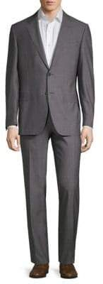 Canali Super 150 Striped Wool Suit
