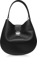 MCM Patricia Park Avenue Large Black Leather Hobo Bag