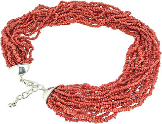 Arthur Marder Fine Jewelry Silver Red Coral Necklace