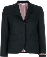Thom Browne Classic Single Breasted Sport Coat With Wristwatch Applique & Combo Lapel In Super 120s Twill