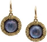Armenta Old World Round Drop Earrings w/ Sapphire Triplets & Diamonds