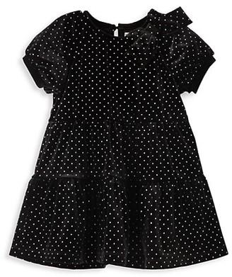 Habitual Baby Girl's Glitter Dot Tiered Dress