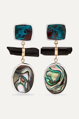 Melissa Joy Manning Sterling Silver And 14-karat Gold Multi-stone Earrings - one size