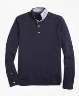 Brooks Brothers Vintage-Wash Long-Sleeve Polo Shirt