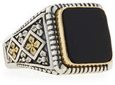 Konstantino Men's Onyx Square Ring, Size 10