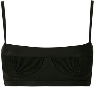 Haight Ribbed-Design Bikini Top