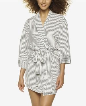 Jezebel Ambra Modal Striped Wrap Robe, Online Only