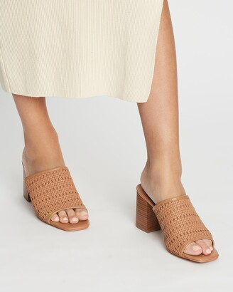 Spurr Women's Brown Open Toe Heels - Harvey Mules - Size 5 at The Iconic