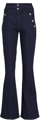 Veronica Beard Beverly Flared High-Rise Jeans
