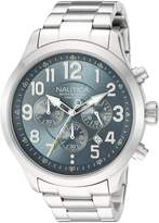 Nautica Men's 'NCC 01 CHRONO' Quartz Stainless Steel Casual Watch, Color: (Model: NAD16549G)
