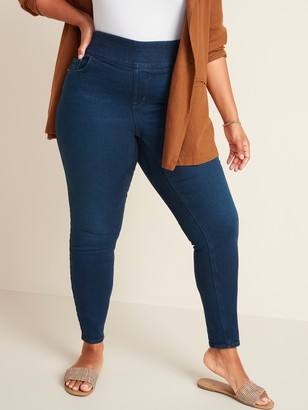 Old Navy High-Waisted Pull-On Rockstar Super Skinny Plus-Size Jeggings