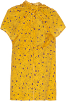 Marni Floral Gathered Short Sleeve Top