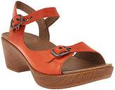Dansko As Is Leather Open- toe Sandals w/ Adjustable Straps - Joanie