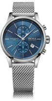 HUGO BOSS 1513441 Chronograph Stainless Steel Mesh Strap Quartz Watch One Size Assorted-Pre-Pack