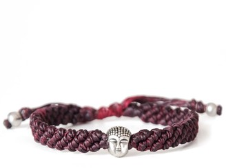 Harbour Uk Bracelets Buddha Red Wine Rope Bracelet For Men. Handmade Knot By Knot.