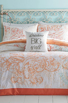 Jessica Simpson Ombre Scroll Twin/Twin XL Comforter 2-Piece Set - Coral/Blue