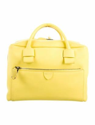 Marc Jacobs Leather Satchel Bag Yellow