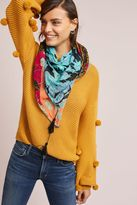 Anthropologie Floral Waves Square Scarf