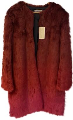 Mary Katrantzou Red Faux fur Coats