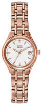 Citizen EW1263-52A Women's Silhouette Stainless Steel Bracelet Strap Watch, Rose Gold/White