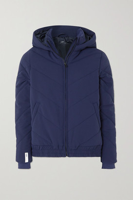 LNDR Hooded Quilted Padded Shell Jacket - Navy