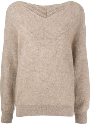 Brunello Cucinelli oversized V-neck jumper