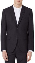 Topman Skinny Fit Glen Plaid Suit Jacket