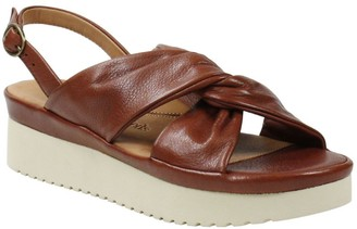 L'Amour des Pieds Leather Adjustable Sandals - Amiens