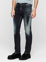 Calvin Klein Mens Straight Leg Thunder Blue Jeans