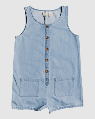 Roxy Girls 4-14 Morning Light Lightweight Buttoned Denim Playsuit