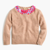 J.Crew Girls' wool popover sweater with embellished collar