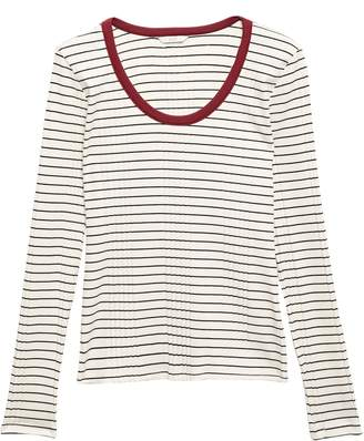 Joie Tayanita Striped Ribbed Jersey Top