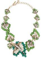 Oscar de la Renta Crystal Leaf Collar Necklace