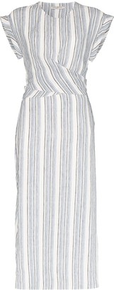 Three Graces Tilde striped midi dress