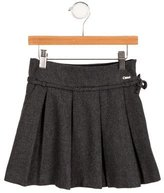 Chloé Girls' Pleated Tie-Accented Skirt
