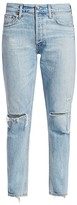 A Gold E Agolde Jamie High-Rise Distressed Ankle Classic Jeans