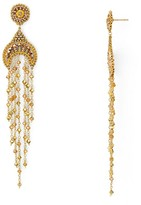 Miguel Ases Beaded Dangle Drop Earrings