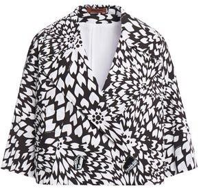 Missoni Cropped Printed Cotton-poplin Jacket