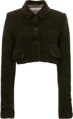 Acne Studios Josi Wool Cropped Blazer Jacket
