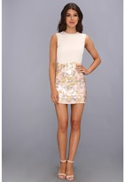 French Connection Shimmy Sequin Dress 71AST (Snowball With Snowball) - Apparel