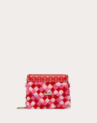 Valentino Garavani Medium Rockstud Spike.it Multicoloured Mink Bag Women Pure Red OneSize