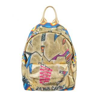 Chanel Graffiti Gold Cloth Backpacks
