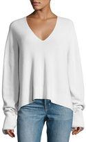 Helmut Lang Ribbed Fluid V-Neck Pullover Sweater