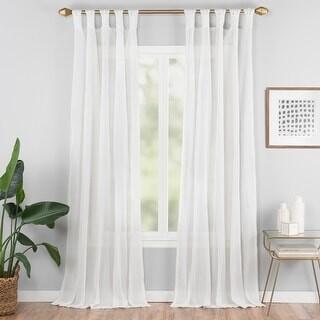 Vue Elements Priya Tab Top Window Curtain - 50x63