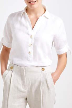 Sportscraft Melia Linen Tie Blouse