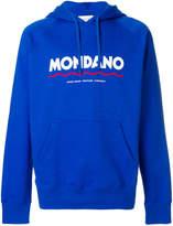 Wood Wood Mondano logo hoodie